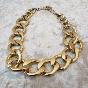 Charming Charlie gold chain statement necklace